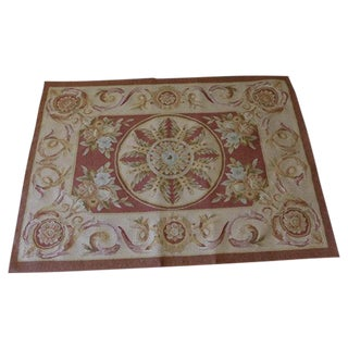 French-Style Aubusson Wool Rug - 2′8″ × 3′9″