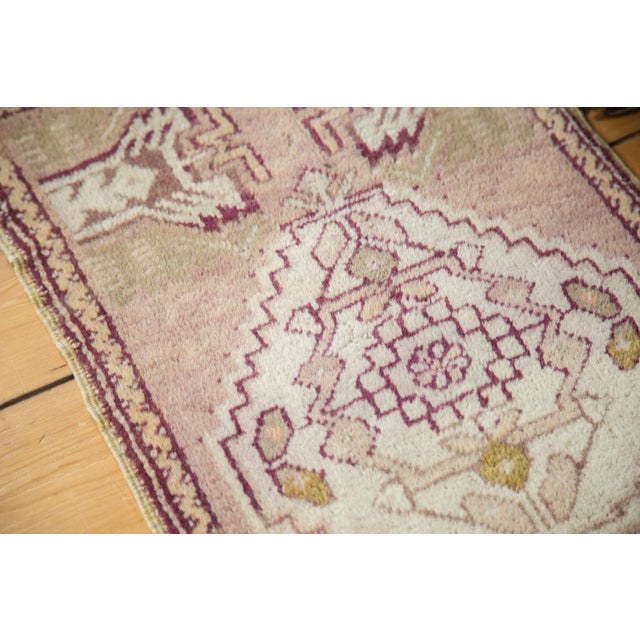 Mauve and Tan Vintage Oushak Rug - 1′5″ × 2′8″ - Image 5 of 6