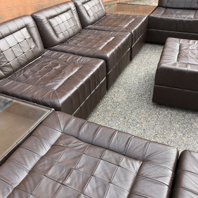 Percival Lafer Modular Leather Sectional Sofa by Percival Lafer For Sale - Image 4 of 13