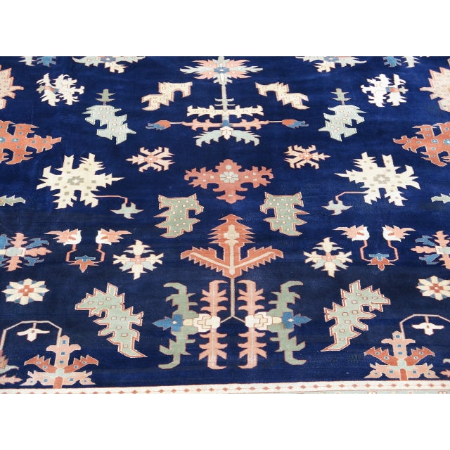 Traditional Persian Heriz Pattern Rug - 27' x 17' For Sale - Image 3 of 11