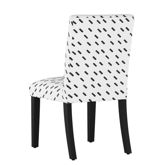 Contemporary Dining Chair in Charcoal Dash White Oga For Sale - Image 3 of 7