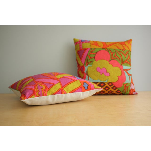 Mid-Century Modern Mid-Century Modern Jack Lenor Larsen Pillow Anthony Ballatore Design Accent Pillow For Sale - Image 3 of 11