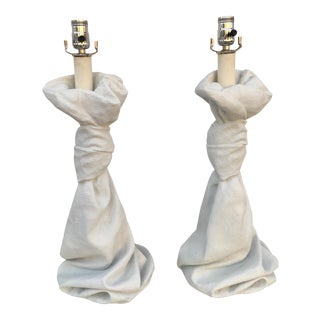 John Dickinson Draped Lamps - a Pair