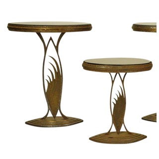 Rare Art Deco Store Display Stands / Tables in the Manner of Edgar Brant - A Pair For Sale