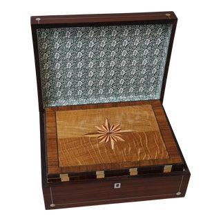Antique English Rosewood Games Compendium