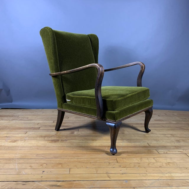 1950s Walter Knoll Mini Wingchair, Mohair, Germany For Sale - Image 12 of 12