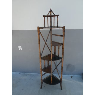 19th Century Victorian Bamboo Corner Etagere Preview