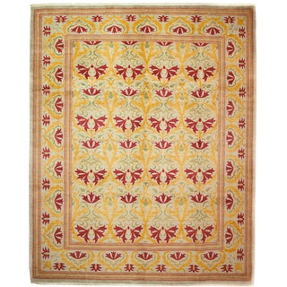 "Arts & Crafts Hand Knotted Area Rug - 8'4"" X 10'2"" For Sale"