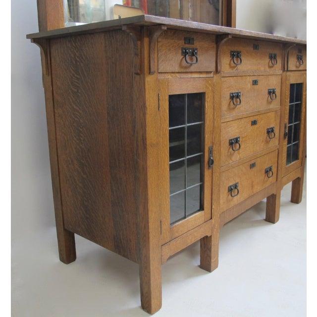 Arts & Crafts Mission Oak Sideboard Buffet For Sale - Image 5 of 7