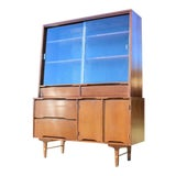 Image of Mid Century Modern China Cabinet by Stanley For Sale