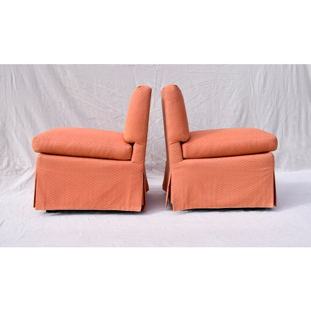 1970s Billy Baldwin Slipper Chairs, Pair For Sale - Image 5 of 12