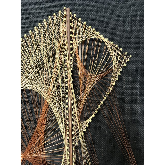 Mid-Century Sailboat Wire String Art For Sale - Image 9 of 12