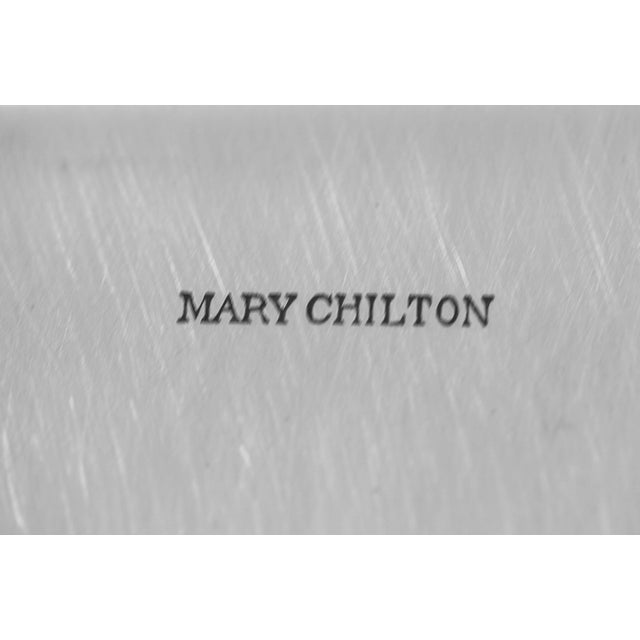 Metal Sterling Mary Chilton Tray For Sale - Image 7 of 8
