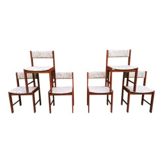 Danish Modern D-Scan Teak Chairs - Set of 6 For Sale