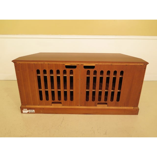 Ethan Allen 2 Door Cherry Media Cabinet Console For Sale - Image 11 of 13