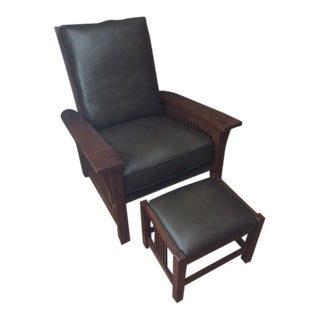 Stickley Spindle Morris Chair & Footstool