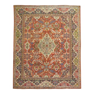 Traditional Red Mahal Rug, 10'7'' X 14'2'' For Sale