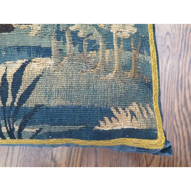 18th Century Maison Maison Verdure Tapestry Pillow For Sale - Image 4 of 7