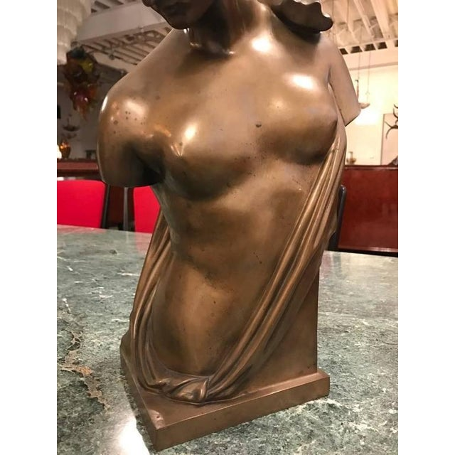 Italian Roman Style Continental Bronze Sculpture For Sale - Image 3 of 9