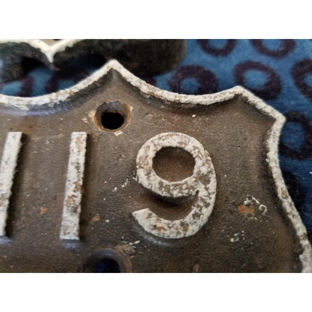 American Victorian Iron House Number Multiple Numbers For Sale - Image 3 of 5