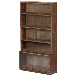 1930s Bookcase With Sliding Glass Doors From Oxford University For Sale