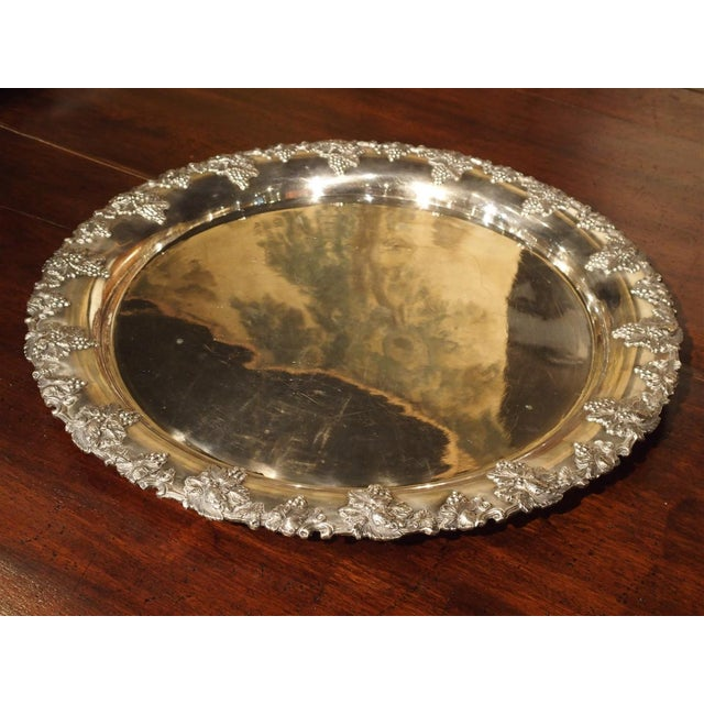 Late 19th Century A Circa 1900 Silver Plated Punch Bowl and Tray For Sale - Image 5 of 11