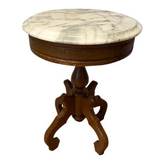 Victorian Marble Top Side Table For Sale
