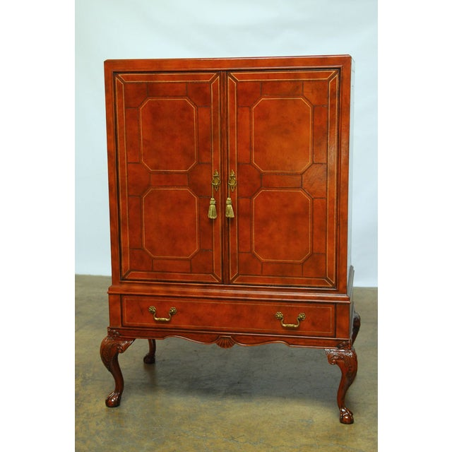Maitland-Smith Leather Wrapped Cabinet - Image 2 of 6