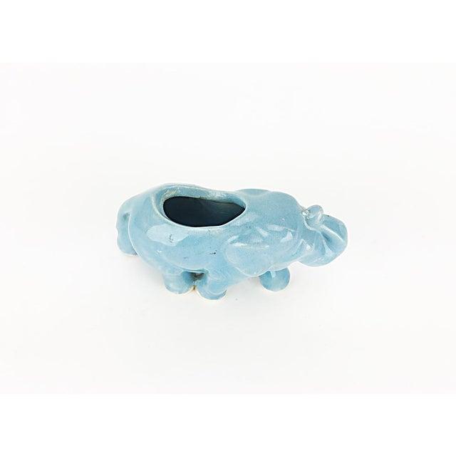 Vintage Blue Ceramic Elephant Planter - Image 5 of 6