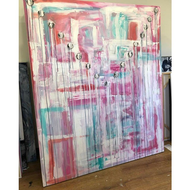 This larger than life piece will bring the Sunset right into your space. It is washed with pastels colors, scraped with...
