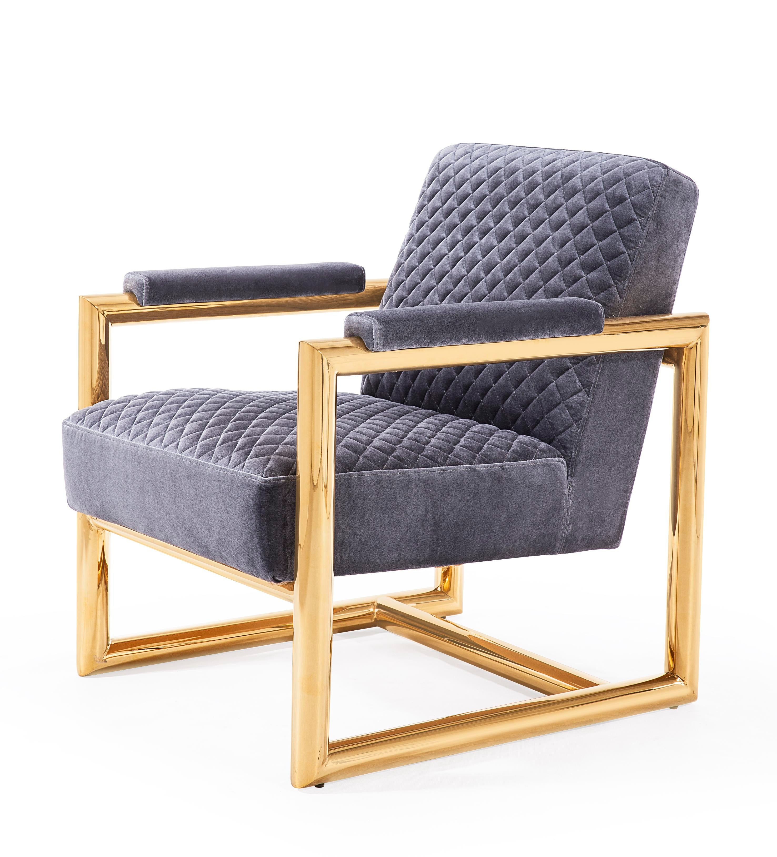 Elevate Your Interior With This Contemporary, Quilted Accent Chair From  Blink Home! Perfect For