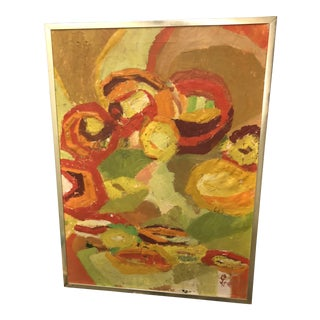 1970s Abstract Painting by Pam Knell For Sale