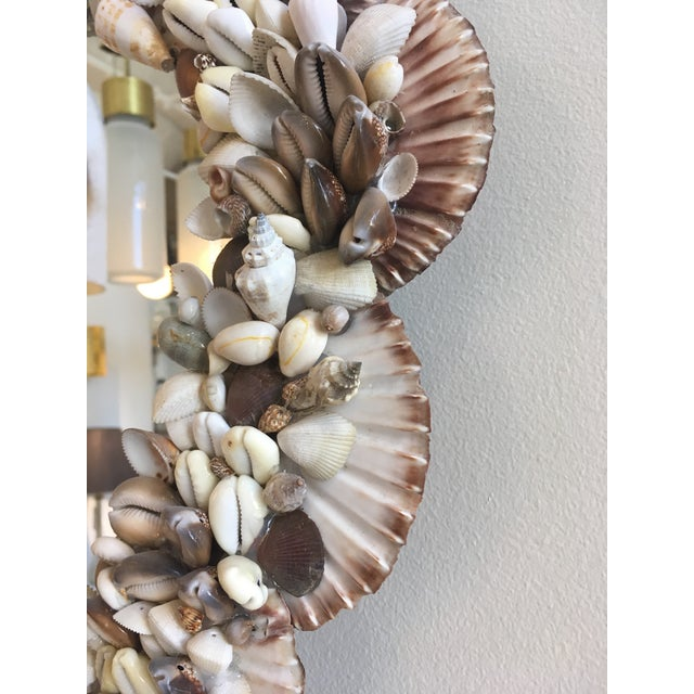 Cottage Vintage Shell Mirror For Sale - Image 3 of 5