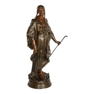 Emile-Louis Picault, a French Orientalist Bronze Figure of Queen Esther For Sale