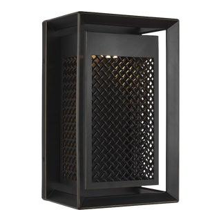 Modern Bronze 1 - Light Outdoor Wall Lantern Stone For Sale