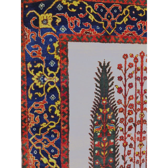 """Cotton Indian Hand-Knotted Rug With Tribal Design - 6'6""""x 7'9"""" For Sale - Image 7 of 8"""