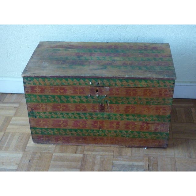 Hand-Painted Guatemalan Trunk - Image 2 of 4