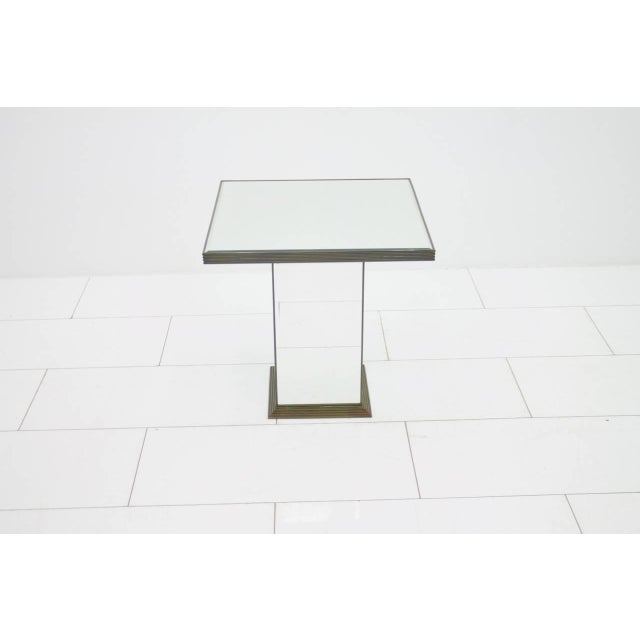 Hollywood Regency Fully Mirrored Side or End Table, France, 1970s For Sale - Image 3 of 8