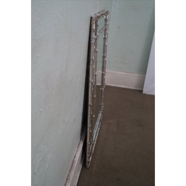 Asian Hollywood Regency Faux Bamboo Mirror For Sale - Image 3 of 10