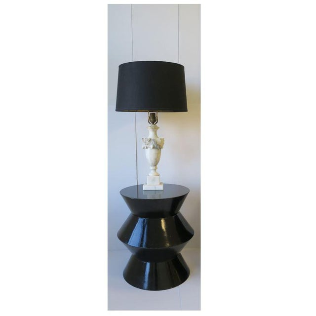 Black 20th Century Art Deco Round Black Lacquer Side/End Tables - a Pair For Sale - Image 8 of 13