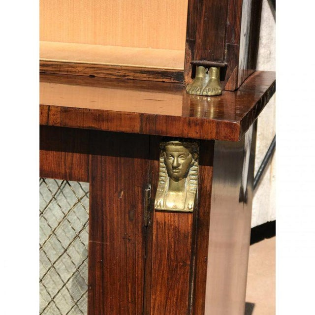 19th C. French Rosewood Bookcase For Sale - Image 6 of 6