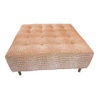 Modern Thayer Coggin Custom Upholstery Ottoman For Sale