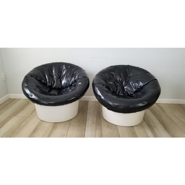 Italian Postmodern Style Out / Indoor Club Chairs a Pair . For Sale - Image 11 of 12