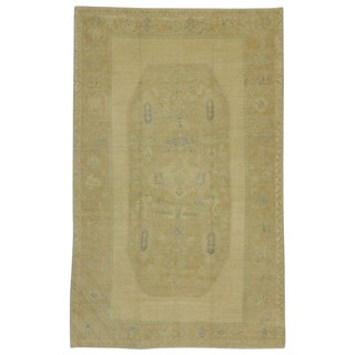 "20th Century Turkish Oushak Area Rug - 5'8"" X 9'"