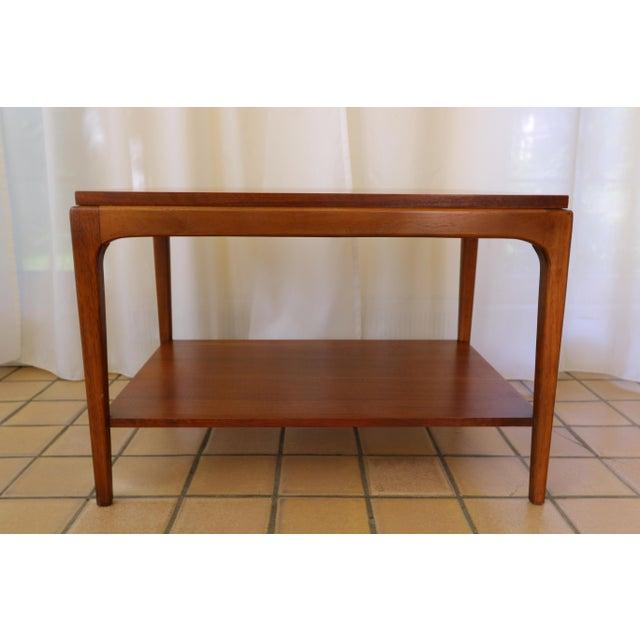 Danish Modern Lane Rhythm Mid-Century Walnut Side Table For Sale - Image 3 of 10