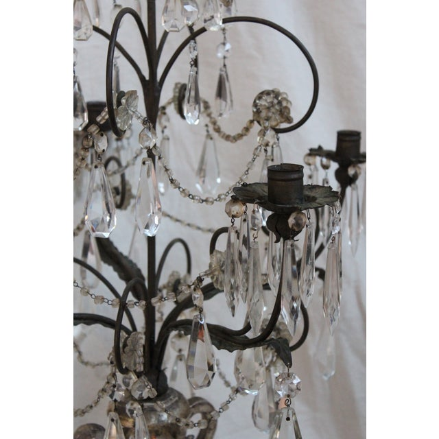 Antique Italian Five Light Candelabra For Sale - Image 5 of 9