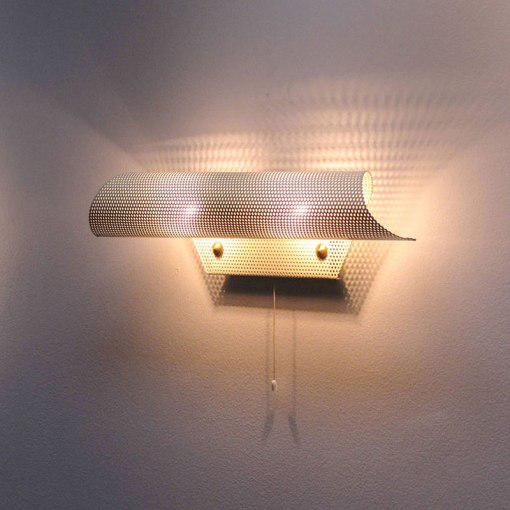 French Perforated Wall Light by Lunel For Sale - Image 9 of 10