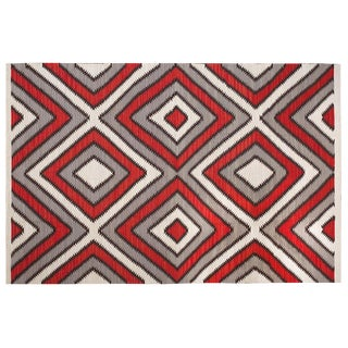 Red Navajo Style Wool Rug - 8′ × 10′ For Sale