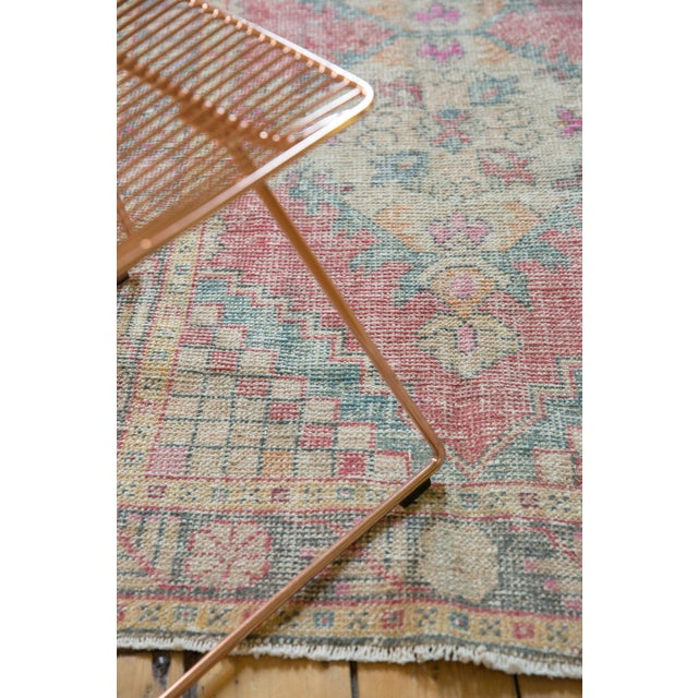 "Vintage Distressed Oushak Rug Runner - 3'5"" X 9'5"" For Sale - Image 10 of 11"