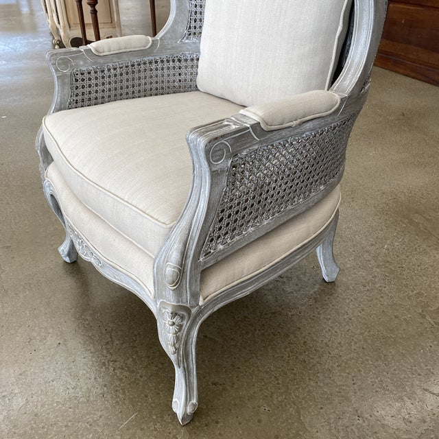 French Balloon Caned Porters Canopy Chairs - a Pair For Sale - Image 10 of 13